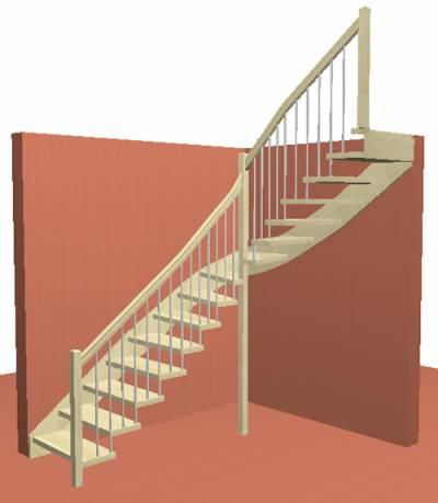 Лестница на Больцах с балясинами из нержавеющей стали