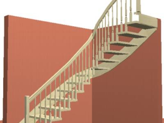 Лестница на Больцах с деревянными балясинами без центрального столба