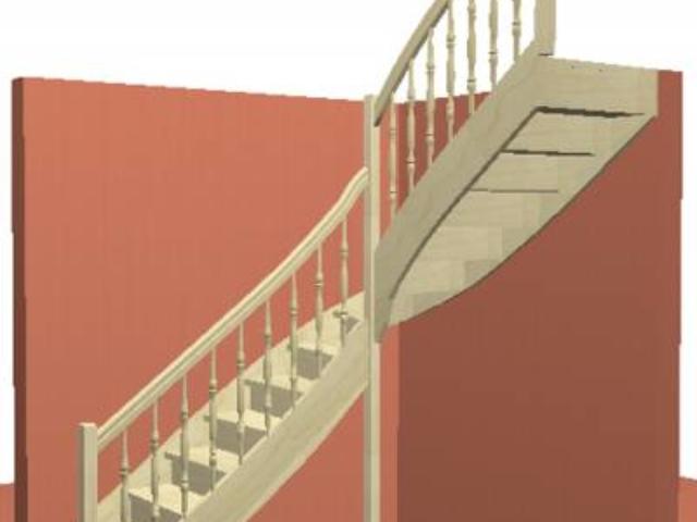 Лестница на тетивах с подступенками