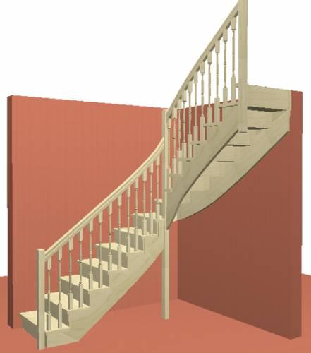 Лестница на косоурах с подступенками