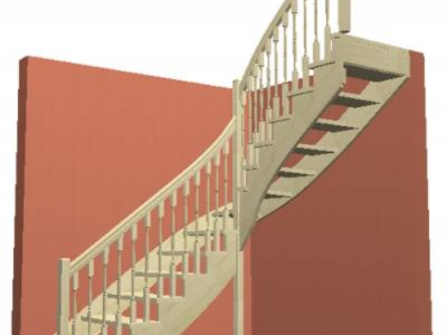 Лестница на косоуре с пристенной тетивой