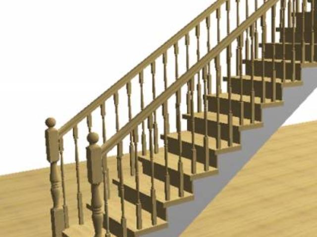 Лестница на металлокаркасе сваренном из швеллеров и уголка. Облицовка деревом, сбоку и снизу по выбору: дерево, гипсокартон, панели.